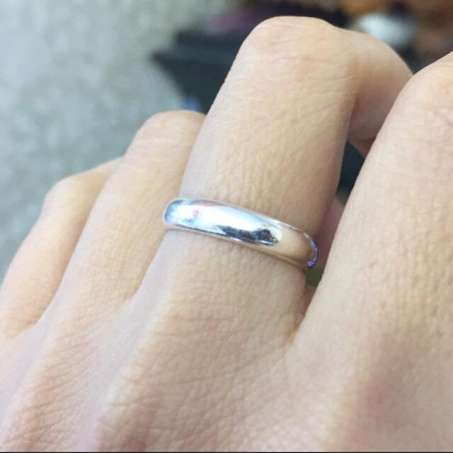 Nhẫn bạc tròn trơn