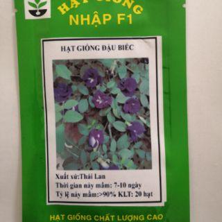 Gói 20 hạt giống hoa đậu biếc