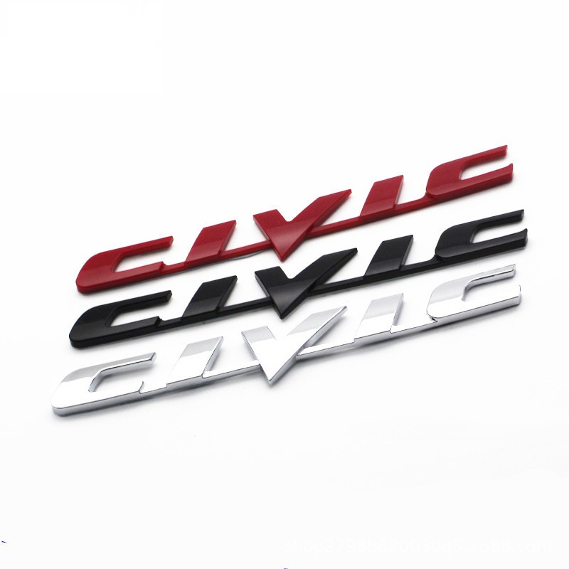 Phụ kiện logo dán trang trí xe ô tô Honda Civic