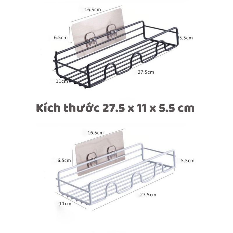 Kệ để đồ nhà tắm, kệ sắt hình chữ nhật, kệ nhà tắm dán tường siêu chắc -  Việt Thư