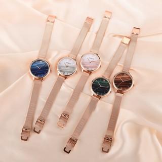 Đồng hồ thời trang nữ cao cấp GAIETY dây hợp kim sang trọng tặng kèm vòng đeo tay cực đẹp - MS36