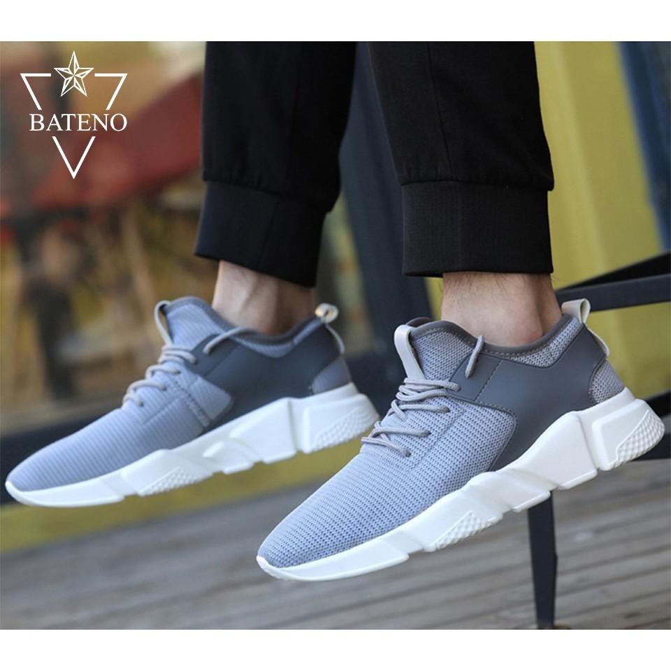 Giày Thể Thao Sneaker Nam Nữ BTN12 (Xám)