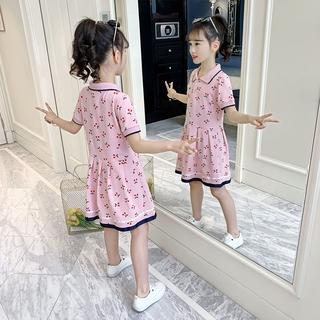 Đầm Tay Ngắn Thời Trang Mùa Hè Cho Bé Gái