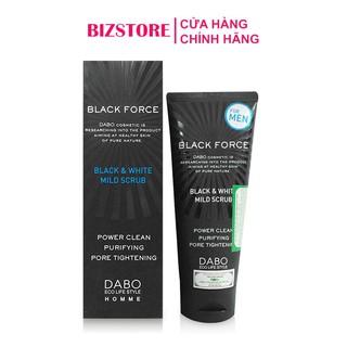 Sữa rửa mặt dành cho nam ngăn ngừa mụn cao cấp Dabo Black Force nhập khẩu Hàn Quốc 120ml
