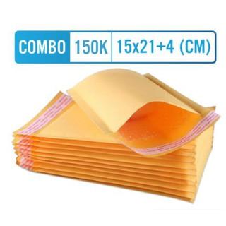 Túi gói hàng chống sốc [COMBO148K] 15x21+4cm 81 túi giấy màu vàng sẵn băng keo hàng dễ vỡ thumbnail