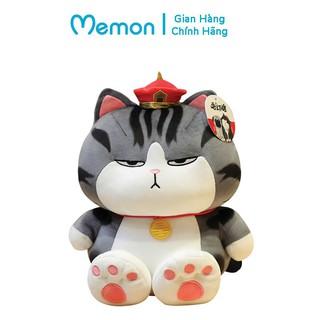 Gấu Bông Mèo Hoàng Thượng Béo - Mẫu Ngồi Chân To Cao Cấp Memon thumbnail