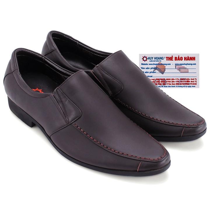 Giày tây Huy Hoàng mũi viền chỉ nổi màu nâu đậm-HP7705 - 3319245 , 487266737 , 322_487266737 , 909000 , Giay-tay-Huy-Hoang-mui-vien-chi-noi-mau-nau-dam-HP7705-322_487266737 , shopee.vn , Giày tây Huy Hoàng mũi viền chỉ nổi màu nâu đậm-HP7705