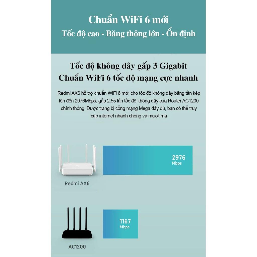Bộ phát Xiaomi Wifi 6 wifi mesh AX6 Hỗ trợ tối đa 248 thiết bị | băng tần kép 2.4GHz và 5GHz | vi xử lý 6 nhân Qualcomm