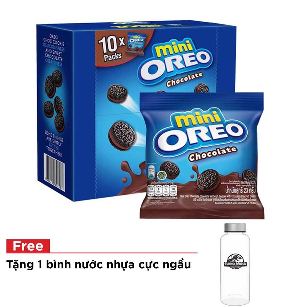 [Tặng bình nước] Hộp bánh quy Oreo Mini vị chocolate 230 gr