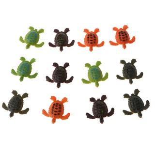 Bộ 12 rùa nhựa đồ chơi dành cho trẻ