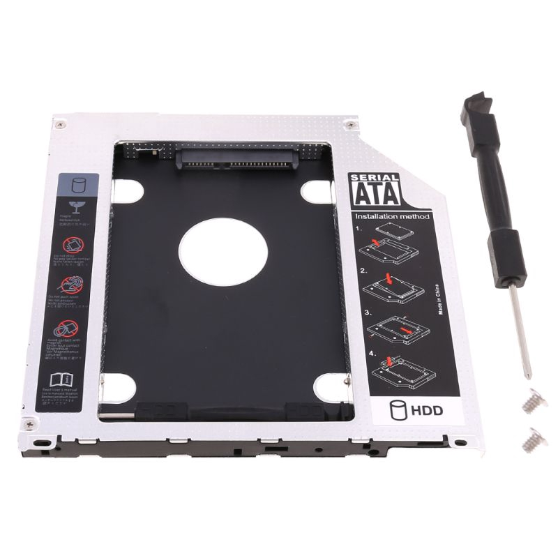 "Khay Caddy Đựng Ổ Cứng Hdd Ssd Sata 2.5 ""Hdd Ssd 9.5mm Cho Apple Macbook Dvd Cd Rom"