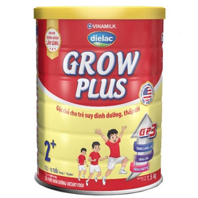 Sữa Dielac Grow Plus 2+ 1.5kg, Vinamilk, 2-10 Tuổi
