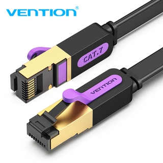 Cáp Mạng Ethernet Cat7 Vention Dẹt Truyền Dữ Liệu Tốc Độ Cao Lên Đến 10 Gbps Dành Cho Pc / Laptop / Tv Box