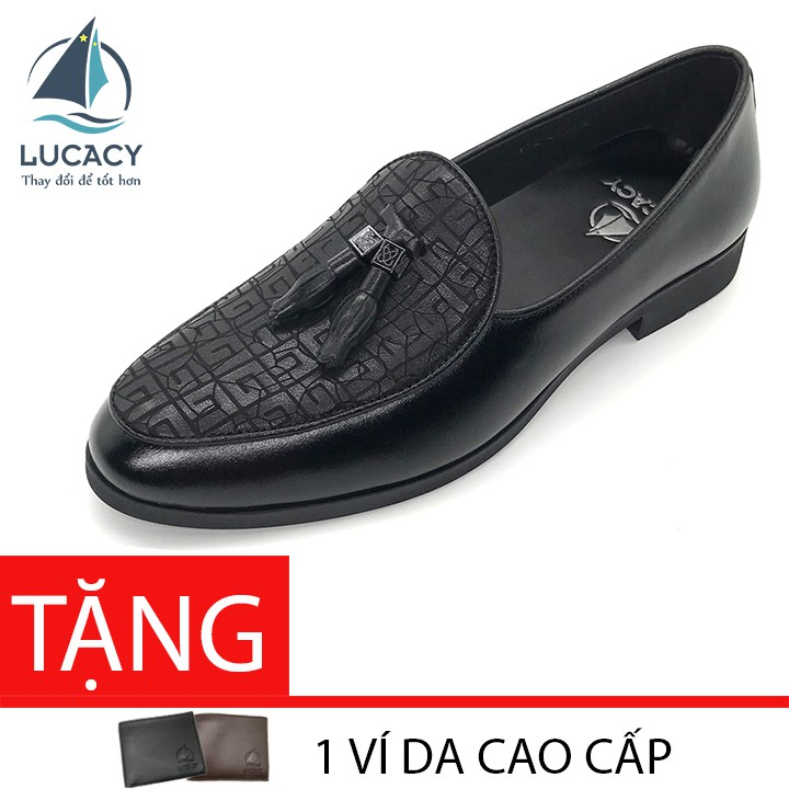 [Mã MSGMV1 hoàn 15% xu, tối đa 100K] Giày tây loafer nam Lucacy da bò cao cấp LC235C