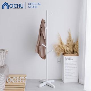 [Mã HLSNVV1212 giảm 15% đơn 99K] Cây Treo Quần Áo Đứng Bằng Gỗ OCHU - Standing Hanger - White thumbnail