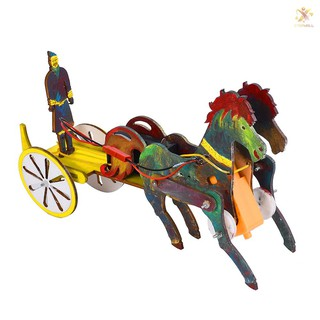 COD E&T Interesting Scientific Experiment Technology Small-scale Manufacturing Handmade Material Terra Cotta Warriors Chariot Model