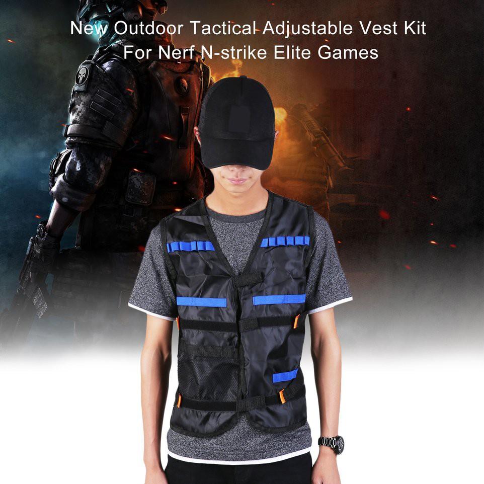 Áo khoác chiến thuật dùng để chơi game bắn súng giả Nerf N-strike Elite