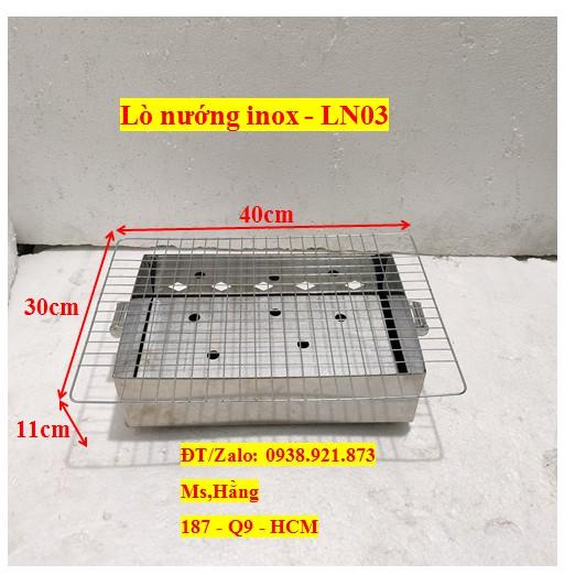 Lò Nướng Than Inox - LN03 - KT 40x30x11cm
