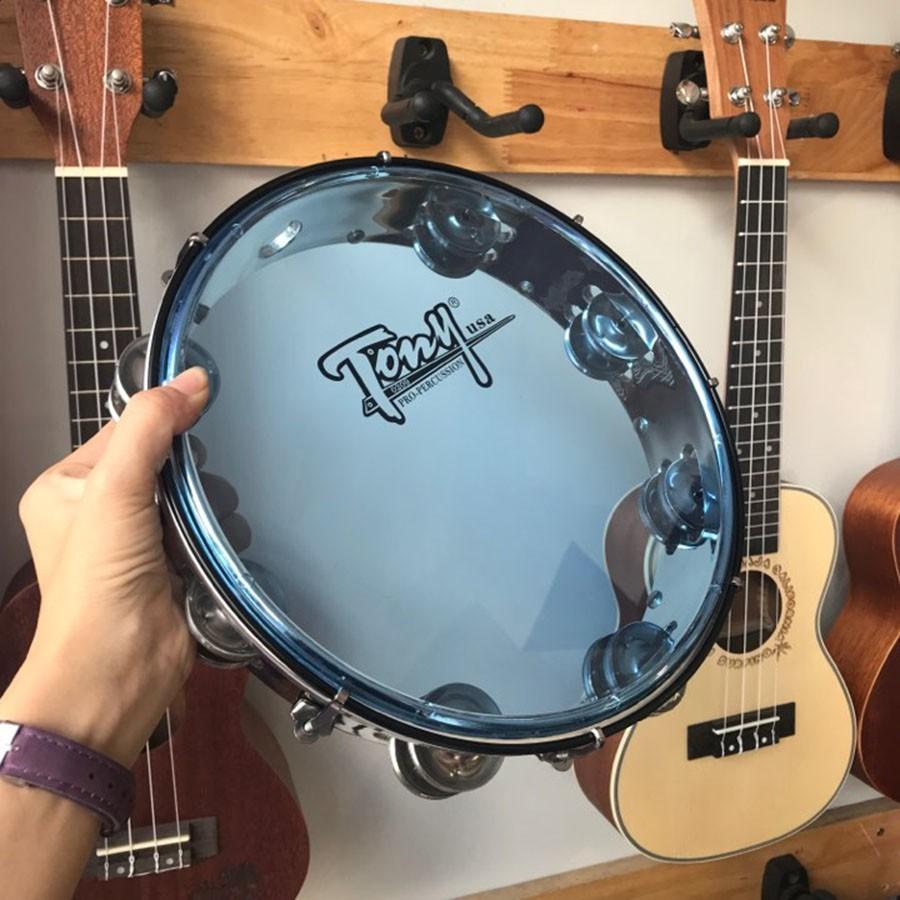 Trống gõ bo tambourine - loại tốt tặng búa chỉnh