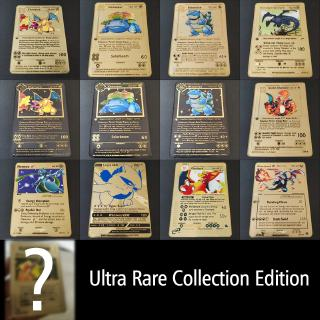 Pokemon game anime battle card gold Pikachu collection card model children's toy gift
