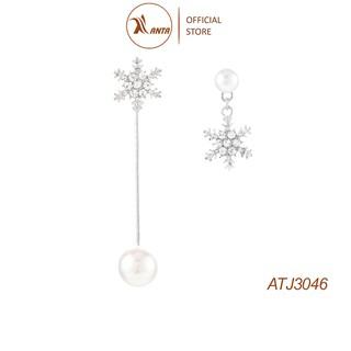 Bông tai bạc 925 hình bông tuyết dáng dài đính đá pha lê ANTA Jewelry - ATJ3046 thumbnail