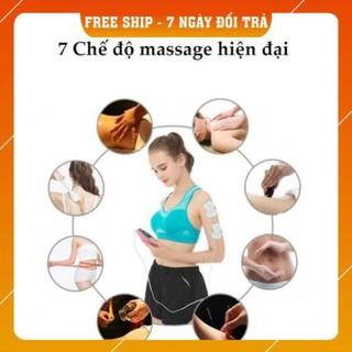 Máy massage xung điện pin sạc 8 miếng dán chính hãng, MẪU MỚI