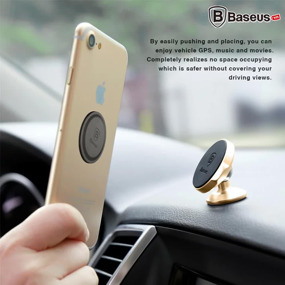 Bộ đế giữ điện thoại nam châm Baseus LV186 dùng cho  xe hơi (Magnetic Car Paste Type Mount/ Holder)