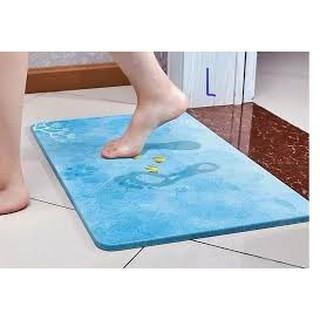 Thảm Đá Lau Chân Siêu Thấm Nhật Bản Tiện Dụng Cho Phòng Tắm