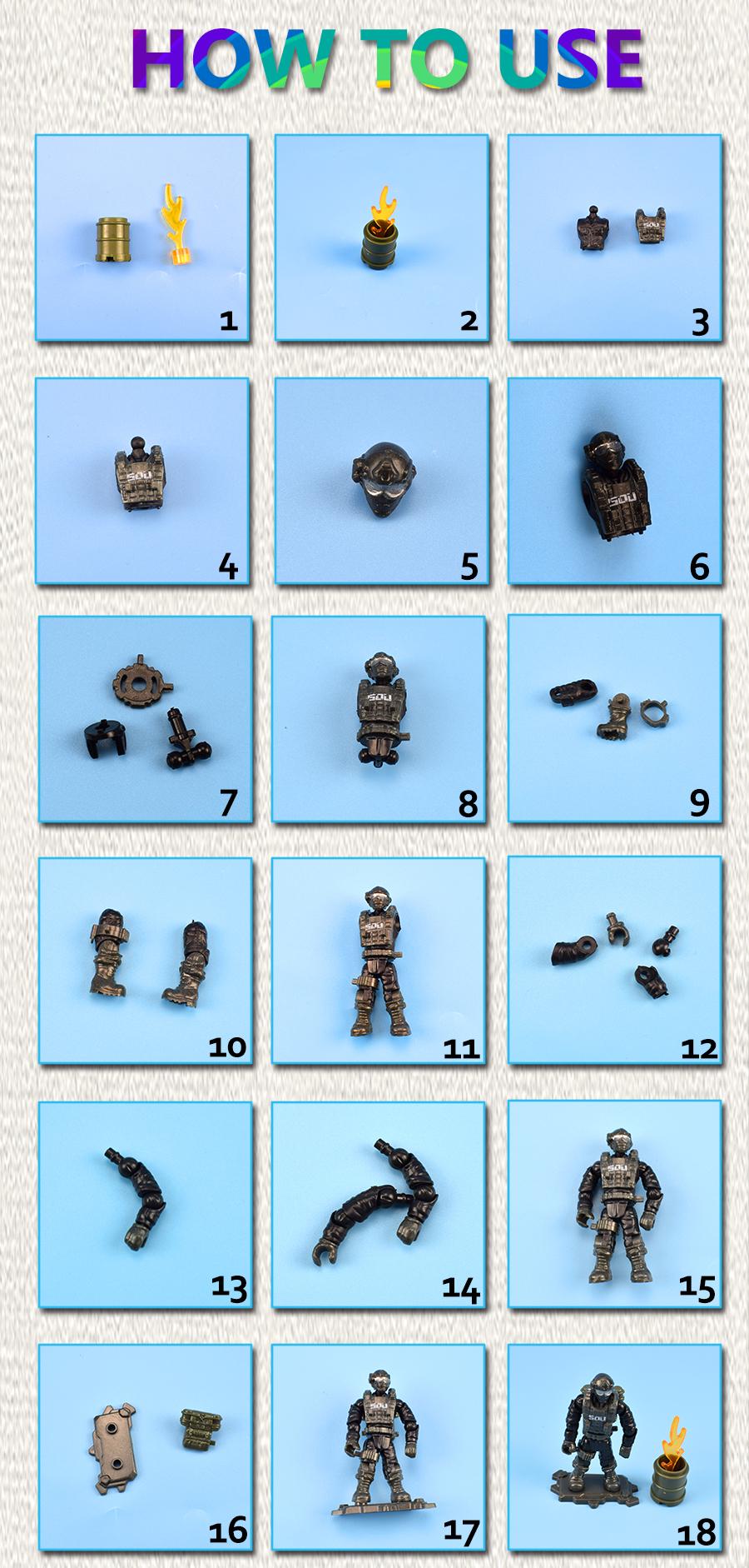 Set 8 Mô Hình Người Lính Quân Đội Đồ Chơi Cho Bé
