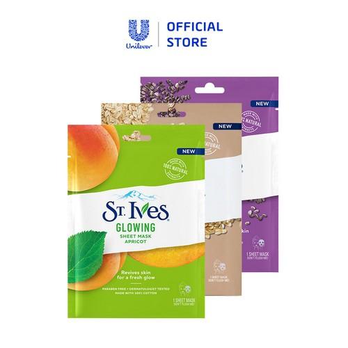 Set 3 mặt nạ dưỡng da toàn diện St.Ives