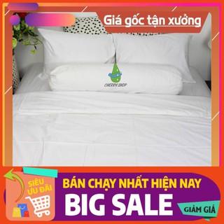 [XEM NGAY] ⚡️GIÁ ⚡️ SỈ 👉 Bộ drap cotton trơn cho khách sạn đủ size: 1m/m2/m4/m6/m8/2m2 x 2m