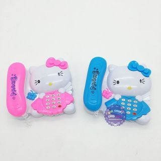 (Tặng 2pin) Điện thoại bàn phát nhạc hình kitty