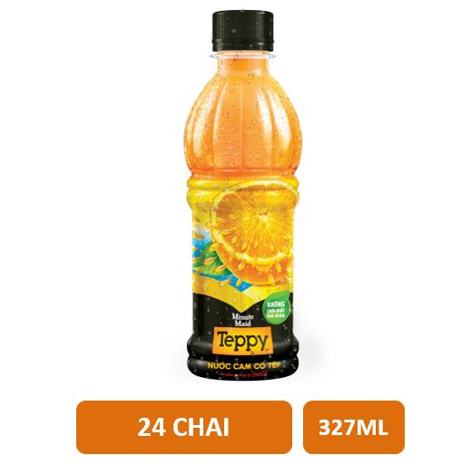 Thùng 24 chai nước cam có tép Teppy Minute Maid 327ml - 3100107 , 938138952 , 322_938138952 , 196000 , Thung-24-chai-nuoc-cam-co-tep-Teppy-Minute-Maid-327ml-322_938138952 , shopee.vn , Thùng 24 chai nước cam có tép Teppy Minute Maid 327ml