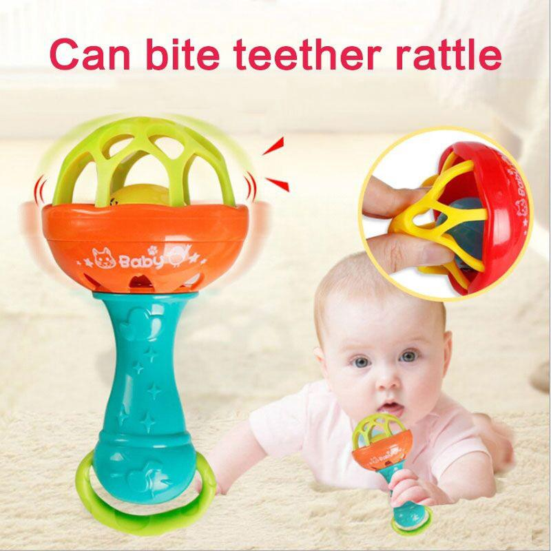 1 pcs Funny Baby Rattle Soft Teether toy non-toxic Early Educational Toy
