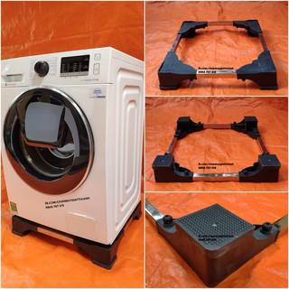 Chân kệ máy giặt cửa ngang đa năng màu đen
