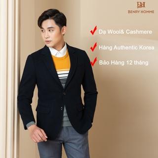 Áo Blazer Nam, Chất Liệu Dạ lông cừu cao cấp, Mặc rất nhẹ nhàng, dáng áo như may đo, Authentic Korea, Hãng Benry Homme