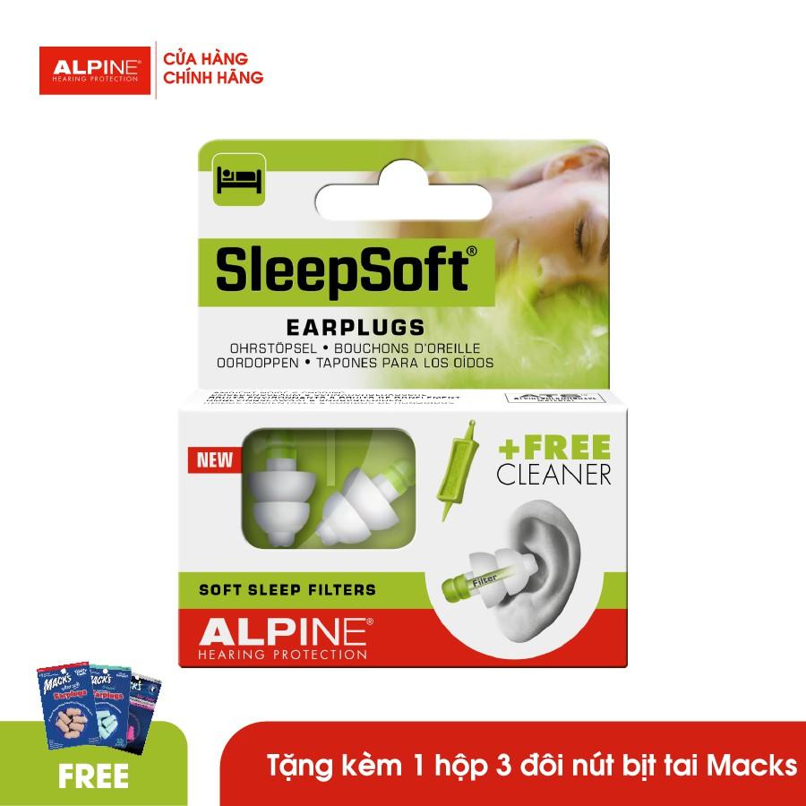 Nút bịt tai ngủ ngon Alpine SleepSoft nhập khẩu Hà Lan