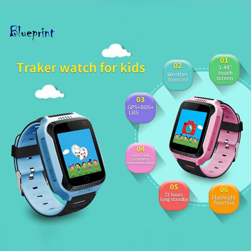 ☞BPStudent Kids Smart Watch Tracking Phone Camera Alarm GPS Touch Screen Gift