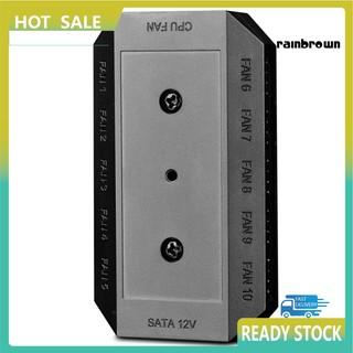 Bộ Chia 10 Cổng Sata 4 Pin Pwm Cho Quạt Máy Tính