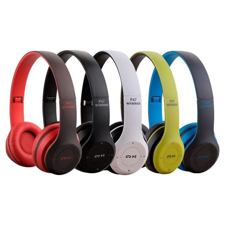 Tai Nghe Bluetooth P47- Hỗ Trợ Cắm Thẻ Nhớ Nghe Nhạc Chơi Game Trực Tiếp - Stereo Hifi Siêu Chất ( Cực Đẹp )