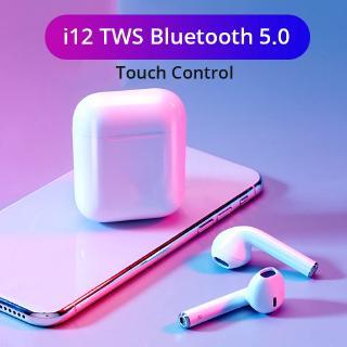 Tai nghe không dây bluetooth 5.0 chống trượt tiện dụng cho i10/i20/30/60/80 kèm phụ kiện