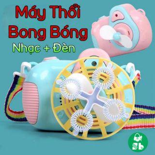 Máy Ảnh Bong Bóng Mini 2 Chế Độ (Có Nhạc + Đèn)
