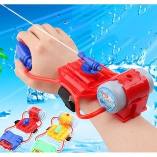 Súng Nước Đồ Chơi đeo tay - Súng Phun Nước Kiểu Máy Bắn Tơ Người Nhện Đeo Tay siêu anh hùng thumbnail