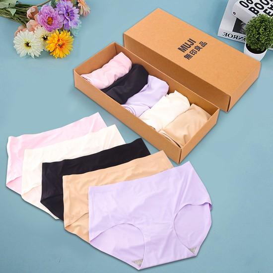 hộp 5 quần lót nữ không viền Muji xuất nhật - 3602704 , 1130102635 , 322_1130102635 , 119000 , hop-5-quan-lot-nu-khong-vien-Muji-xuat-nhat-322_1130102635 , shopee.vn , hộp 5 quần lót nữ không viền Muji xuất nhật