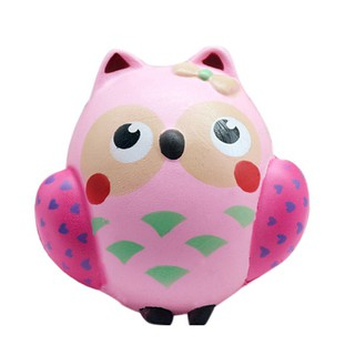 Owl Squishy Toy PU Squeeze Toys for Kids Adults Relieve Anxiety Gift lifestar