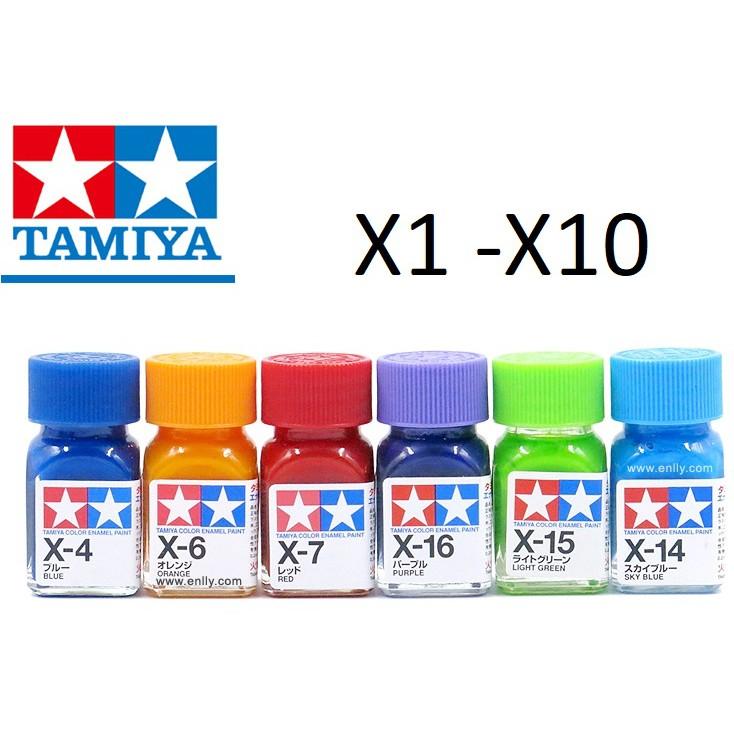 Sơn Mô Hình Tamiya Enamel X1- X10
