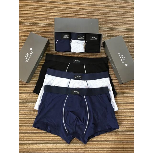 Hộp 3 quần sịp nam,quần lót nam H.M hammodel cao cấp, hàng xuất Nhật loại 1- video + ảnh thật