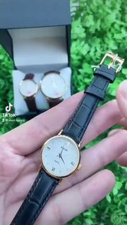 Đồng hồ nam nữ Halei mặt tròn chính hãng chống nước