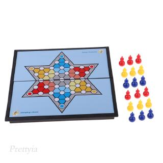Plastic Chinese Checkers Game Family Travel Board Game Set for 6 Players