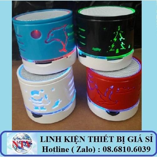 Loa nghe nhạc Bluetooth đèn Led - Hoa Văn